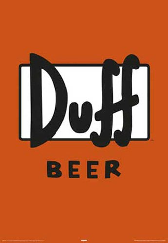 Los-Simpson-The-Pster-cerveza-Duff-Label-meno-Pster-0