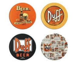 The-Simpsons-Juego-de-4-posavasos-diseo-de-cerveza-Duff-0