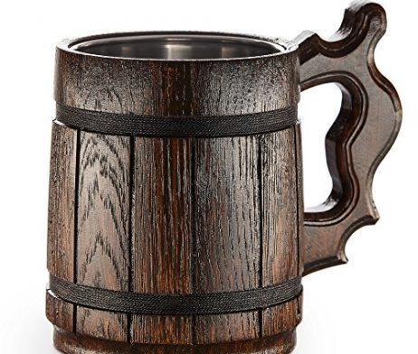 Gran-jarra-de-cerveza-de-madera-roble-hecho-a-mano-Artesana-de-Amazing-y-materiales-de-calidad-con-forro-con-Metal-resistente-resistente-larga-duracin-0