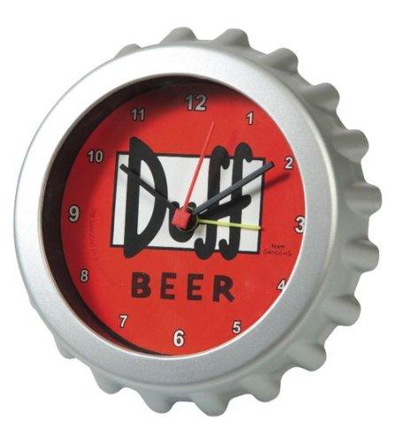 Los-Simpson-Reloj-despertador-dimetro-8-cm-diseo-chapa-de-cerveza-Duff-0