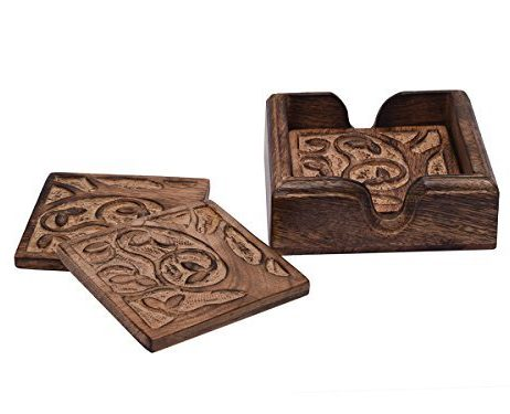 Store-Indya-Conjunto-de-4-posavasos-de-madera-de-mango-decorativo-con-el-arbol-de-la-Vida-Diseno-de-tazas-de-te-de-cafe-latas-de-cerveza-Bar-vasos-y-copas-de-agua-0