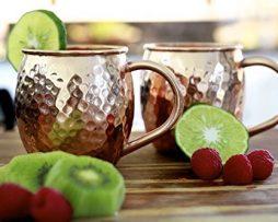 Tazas-de-cobre-slido-para-coctel-Moscow-Mule-2-Tazas-TwinzUp-Sin-revestimiento-Jarra-de-cobre-tipo-amartillado-45-cl-de-capacidad-Ideal-para-cualquier-bebida-fra-Genial-para-recibir-visitas-y-para-el--0