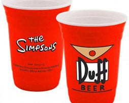 The-Simpsons-Vasos-de-papel-para-fiesta-de-cerveza-Duff-0